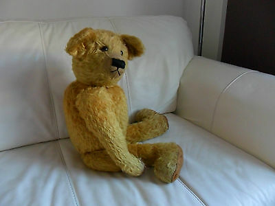 """Antique Farnell Teddy Bear Early/Rare Large 27"""""""