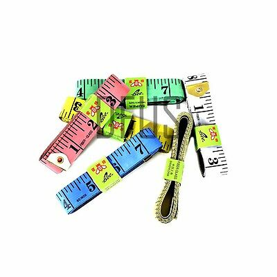 """60"""" 1.5M Sewing Tailor Tape Measure Fabric Measuring Tapes Ruler Soft Flat"""