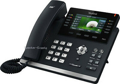 Yealink SIP-T46G Ultra-Elegant Color IP 6-Line PoE IP PBX VOIP Phone Telephone