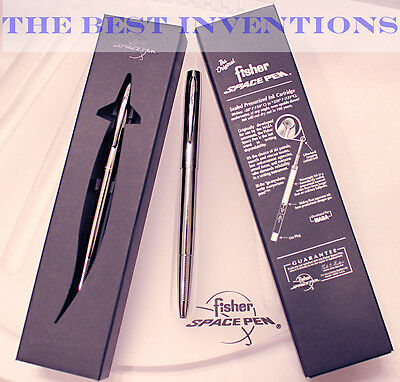 Fisher Space Pen #M4C Chrome Cap-o-matic pen_NEW IN GIFT BOX / FAST SHIPPING