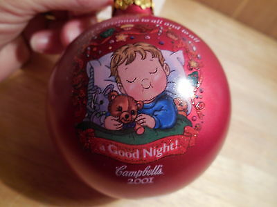 2001 Campbell Soup Christmas Ball Ornament with Box