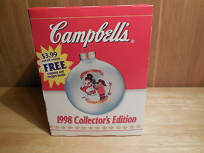 1998 Campbell Soup Christmas Ball Ornament