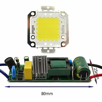 30W Transformer Power Supply Driver With High Power Cool White LED Chip Light