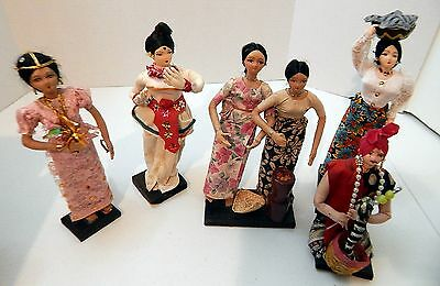 Handmade India themed dolls Set of 6