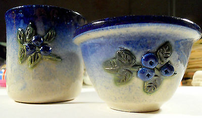 Two Handmade Ceramic Vases by Johnson - Mint / Unused Condition