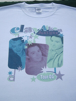 CLAY AIKEN Jukebox 2005 Tour XL concert T-SHIRT