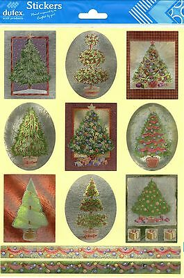 Dufex Foil Stickers - Christmas Trees