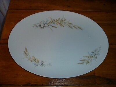 Fine China of Japan Autumn Wheat Oval Serving Platter  14 1/8 x 10 5/8""