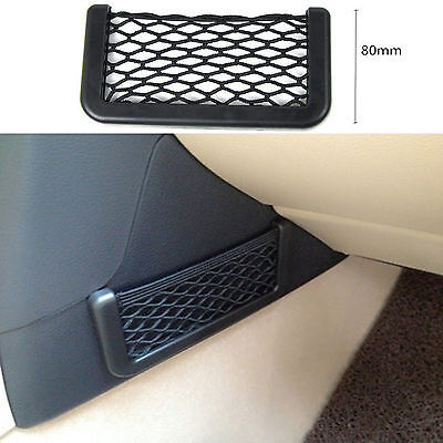Interior Gps Phone Digital Sundries Storage Net Pocket String Bag For Volkswagen