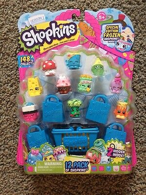 SHOPKINS Season 1-12 Pack Special Edition Frozen w/ 4 RARE-1 SPECIAL EDITION(#3)