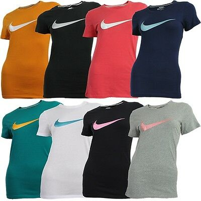 Nike SWOOSH IT UP TEE schwarz weiß blau rot grün orange Damen T-Shirt NEU OVP