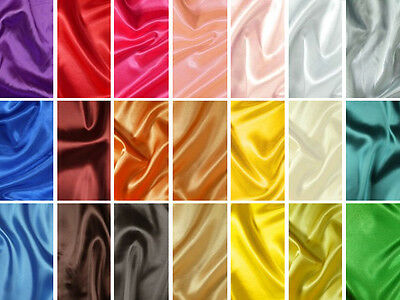 Plain satin, brilliant & silky, top quality fabric for dresses, decoration&craft