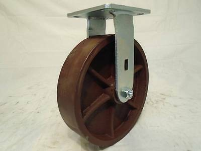 "8"" x 2"" Rigid Caster w/ Ductile Steel Wheel 2000lb each"
