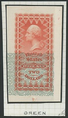T.E. #25-Ia DIE ON INDIA RED & GREEN LOWER PORTION PRINTED FRACTIONAL WL7949 WLB