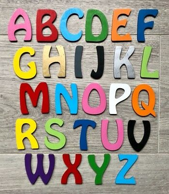 Alphabet Pink Fairytale Names Painted 7cm Tall Wooden Letters For Plaques