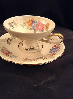 Vintage Bavaria Germany Cup and Saucer Mitterteich 354565