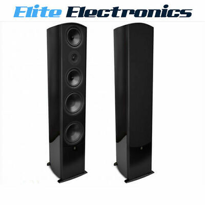 Aperion Verus Grand Tower Floorstanding Audiophile Speaker Gloss Black Lacquer