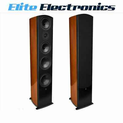 Aperion Verus Grand Tower Floorstanding Audiophile Speaker Cherry Wood Veneer