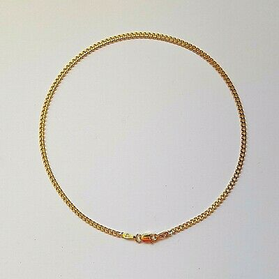 NEW Genuine 9ct 9k Yellow Solid Gold Bevelled Curb Diamond Cut Anklet Beautiful