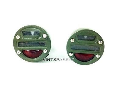 MILITARY JEEP MUTT M151 TAIL LIGHT RED TAILLIGHT TAIL LAMP CAT EYE LIGHT PAIR