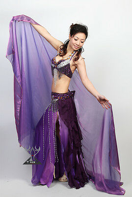 New Performance Belly Dance Costume Organdy Shawl Veil 210x110cm 9 colors