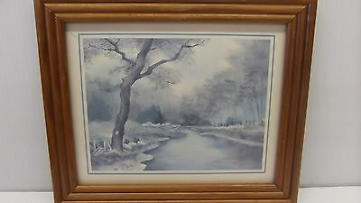 """""""White Rock River"""" By Owen Wexler Framed 12"""" x 10"""" Print by Litho USA"""