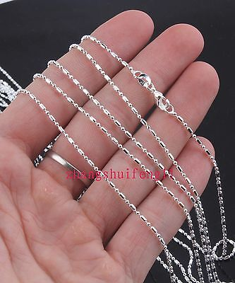 FREE HOT Wholesale Fashion  5pcs 925 Sterling Silver Bamboo Necklace Chains 20""