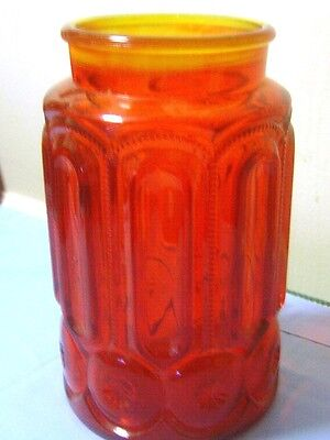 "Vintage/ 9""½ "" Cranberry Crystal Depression Apothecary Jar/Vase w/out Lid."
