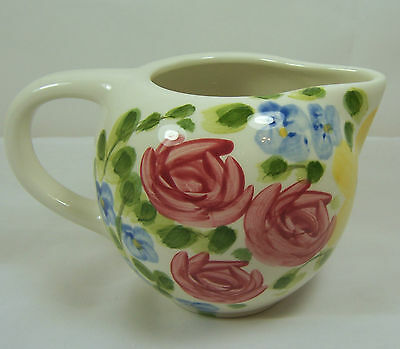 VALENTINO HANDPAINTED CHINA TABLETOPS UNLIMITED Creamer Pitcher Sauce Gravy Boat