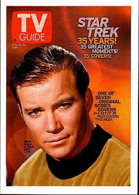 Star Trek Tos Quotable Tv Week Guide Insert Card Set Tv1-Tv7