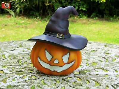 Pumpkin With Witches Hat Glow In The Dark Ornament Indoor Or Outdoor, Halloween