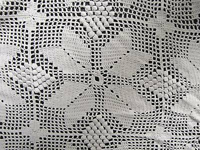 Antique French curtain cover  lace handmade CUTTER