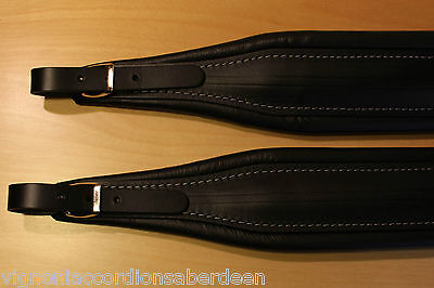 Deluxe Italian all Leather accordion straps + backstrap 307/a 100% MADE IN ITALY