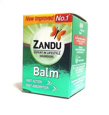 Zandu Balm | Headache Body Pain Cold Sprains Strain Relief |