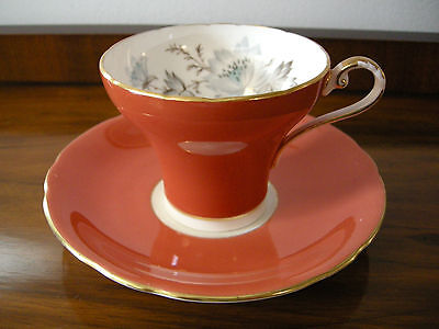 Aynsley Coral Corset Cup & Saucer