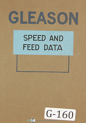 Gleason Planers and Generators, Bevel Gear Speed and Feed Tables Manual