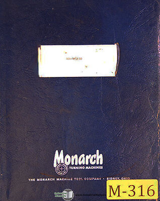 "Monarch EE, 46200, 10"" Lathe, Operators Manual Year (1961)"