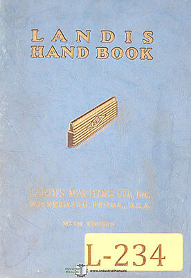 Landis threading and Tapping Equipment, Operations Manual Year (1940)