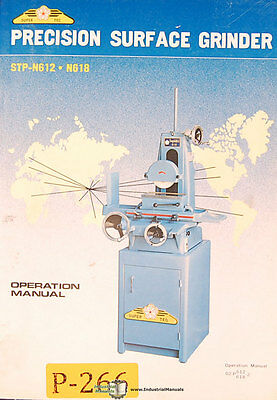 Grinder Operations and Parts List Manual Chevalier FSG 612 and 618 Falcon