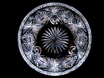 """Superb Antique Brilliant Cut Crystal 8"""" Footed Bowl  in Very Fine Condition"""