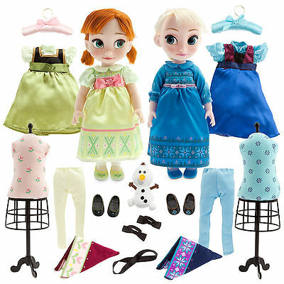 Disney Store Frozen Anna and Elsa Animators Doll Gift Set New Rare Free Shipping
