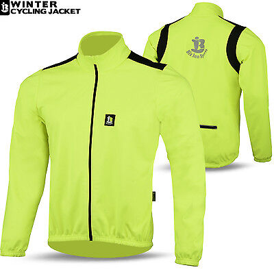 Winter Cycling Jacket Long Sleeve Windproof Thermal Windstopper S-M-L-XL-XXL