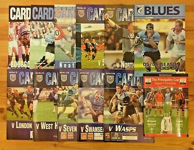 Cardiff Rugby Programmes 1978 - 2010