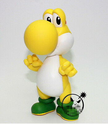 "5/"" Yellow YOSHI Action figures Dolls Free Shipping Super Mario Bros"
