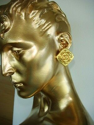 Vintage Chanel Double Cc Gold Clip Earrings 94 A Collection Mint Condition