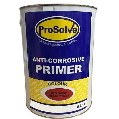 5LTR Red Oxide Anti corrosive Metal Primer Paint - industrial quality coating