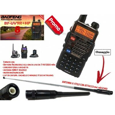 Baofeng Eu Version Bf-Uv9R+Hp Ricetrasmettitore Dual Band Vhf/uhf 7/8 Watt