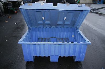 """Stackable Forklift Bins with Lids, 47"""" x 32"""" x 23"""",Multiple Uses and Affordable!"""