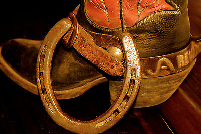 Athentic used Texas & New Mexico WORKING RANCH HORSESHOE - the lucky type!!