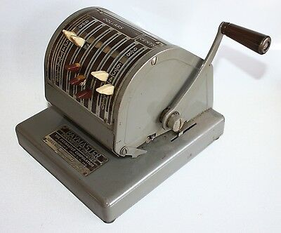 Vintage Paymaster Checkwriter Protector Series 400 Working Retro Office Mid Cent